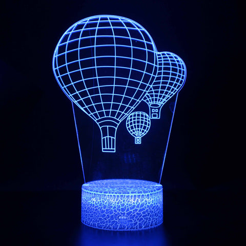 The Flying Hot Air Balloons 3D Night Light