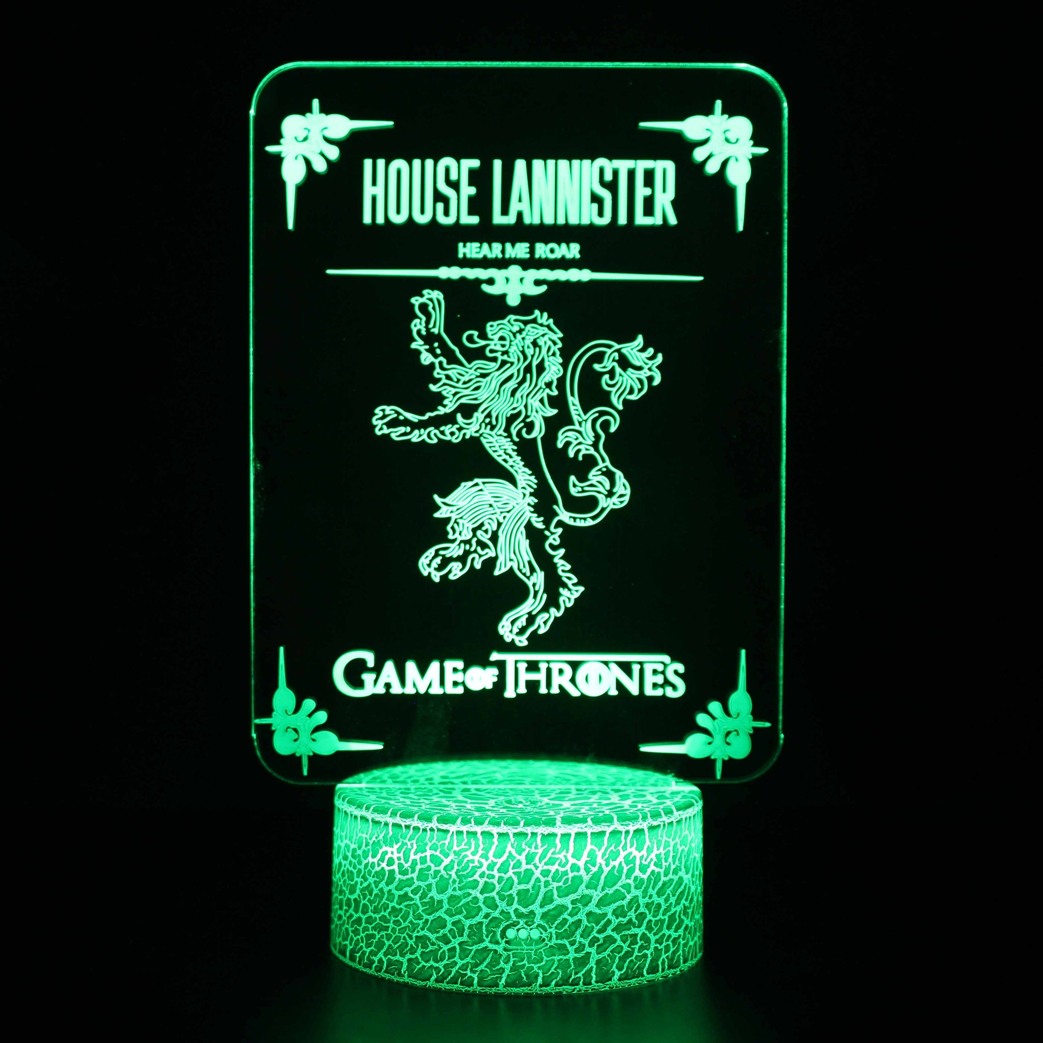 House Lannister Symbol Game of Throne 3D Night Light