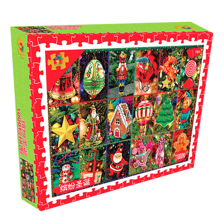 Merry Christmas Ornaments 1000 Pieces Jigsaw Puzzles