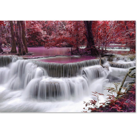 Nature Forest Waterfall 1000 Pieces Jigsaw Puzzles
