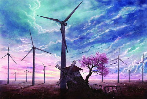 Netherland City Spring Scenic Windmill 1000 Pieces Jigsaw Puzzles