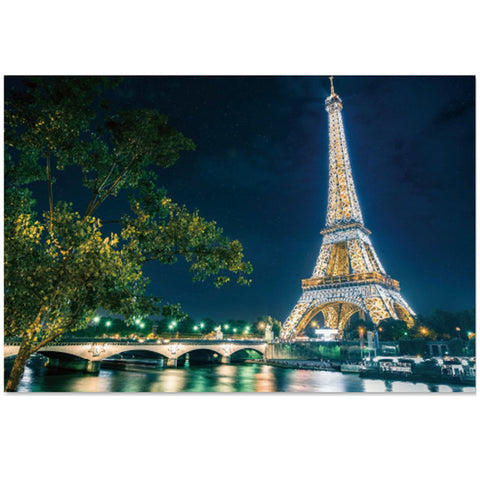 Paris Night Scenic Eiffel Tower 1000 Pieces Jigsaw Puzzles