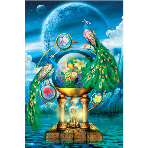 Pleasantries Peacock Lagoon Fantasy Art 1000 Pieces Jigsaw Puzzles