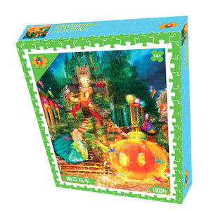 Pumpkin with Princess Haunt House Halloween Holiday 1000 Pieces Jigsaw Puzzles