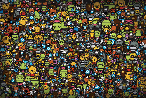 Sea of Funky Cartoon Characters 1000 Pieces Jigsaw Puzzles