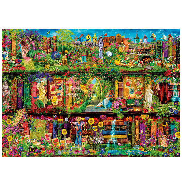 Spring Mystical Garden Shelf 1000 Pieces Jigsaw Puzzles