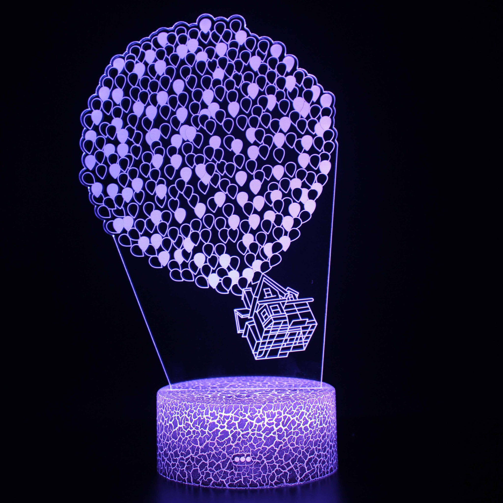 Up Fly House with Balloons Movie 3D Night Light