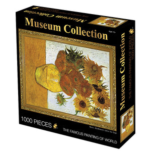 Vincent Van Gogh Vase with Twelve Sunflowers 1000 Pieces Jigsaw Puzzles