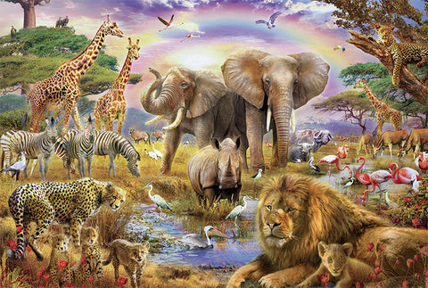 Wildlife Animal World 1000 Pieces Jigsaw Puzzles