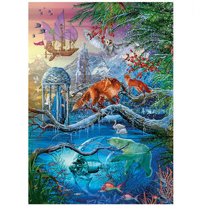 Winter Dreamland Fox Polar Bear 1000 Pieces Jigsaw Puzzles