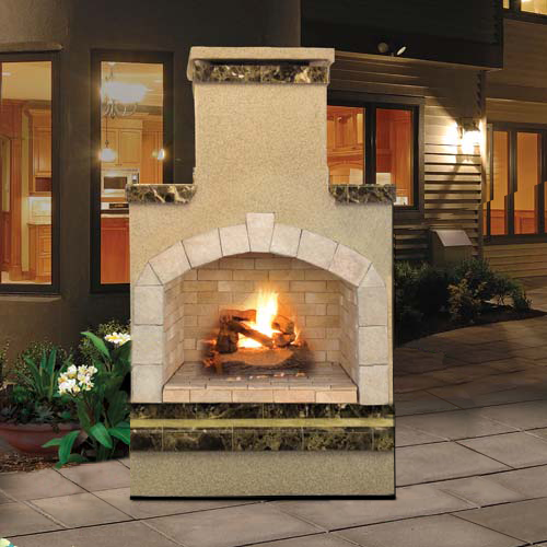 Cal Flame's Outdoor Fireplace (Gas Only) #FRP908-2 - ForteFinds