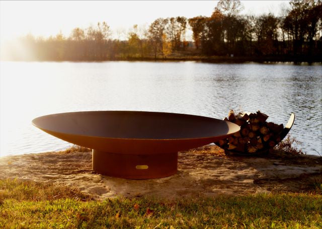 "Asia - 72"" - Oriental wok style ¼"" steel, low profile, modern design - ForteFinds"