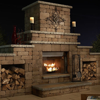Rockwood Grand Gas-log Ready Fireplace (Woodburning Optional)
