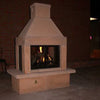 Mirage Stone 3 Screen Unit Woodburning Fireplace (Gas Optional) - ForteFinds