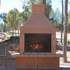 Mirage Stone See Through Outdoor Woodburning Fireplace (Gas Optional) - ForteFinds