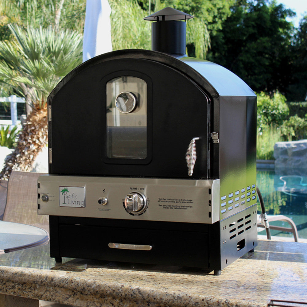 Pacific Living Black Powder Coated Oven - ForteFinds