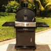 Pacific Living Black Powder Coated Oven W/ Cart - ForteFinds