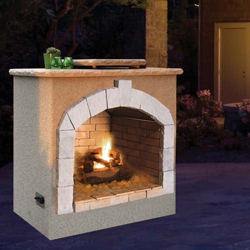Cal Flame's Outdoor Fireplace (Gas Only) #FRP906-1 - ForteFinds