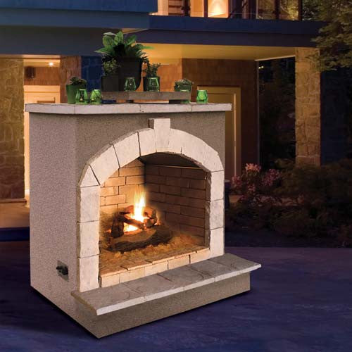 Cal Flame's Outdoor Fireplace (Gas Only) #FRP906-2 - ForteFinds