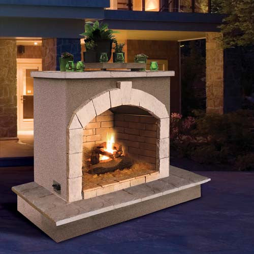 Cal Flame's Outdoor Fireplace (Gas Only) #FRP906-3 - ForteFinds
