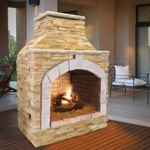 Cal Flame's Outdoor Fireplace (Gas Only) #FRP909-1