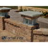 "Necessories 20"" Pillar Kits with Glass Block - ForteFinds"