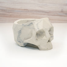 Load image into Gallery viewer, Geometric Skull Vessel - Marble