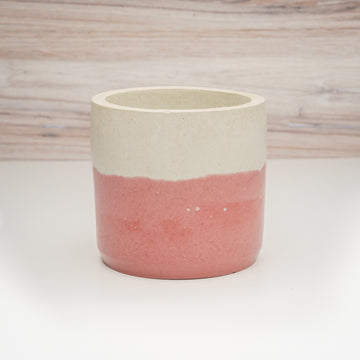 Large Cylinder Vessel - Mulled Wine Two Tone