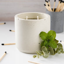 Load image into Gallery viewer, Peppermint + Eucalyptus - Large Cylinder Candle - Natural