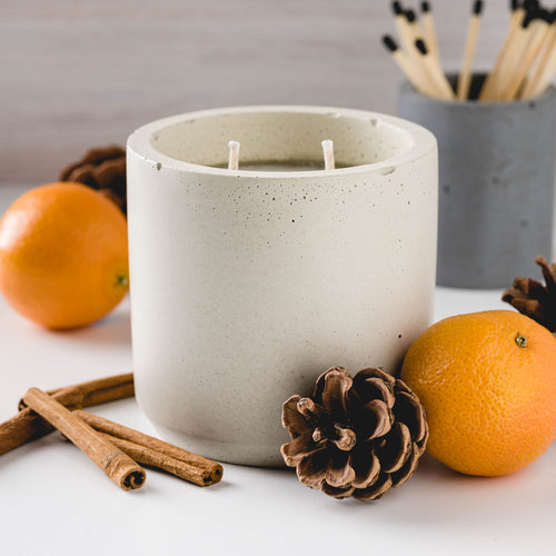 Sweater Weather - Large Cylinder Candle - Natural