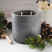 Load image into Gallery viewer, Alpine Fir - Large Cylinder Candle - Charcoal