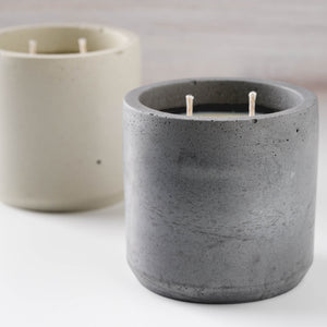 Alpine Fir - Large Cylinder Candle - Charcoal