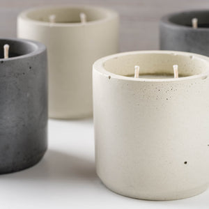 Peppermint + Eucalyptus - Large Cylinder Candle - Natural