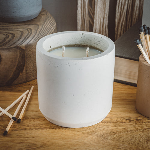 Coastline - Large Cylinder Candle - Natural