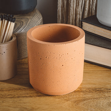 Large Cylinder Vessel - Orange Sunray