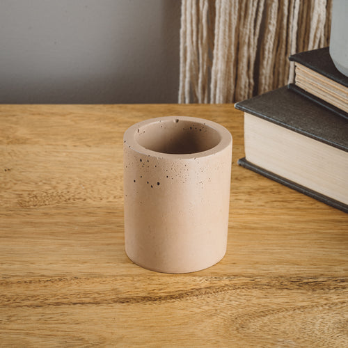 Small Cylinder Vessel - Tan