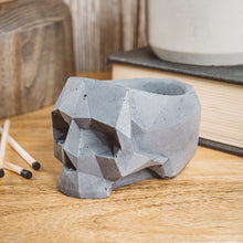 Load image into Gallery viewer, Geometric Skull Vessel - Charcoal