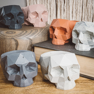 Geometric Skull Vessel - Blush