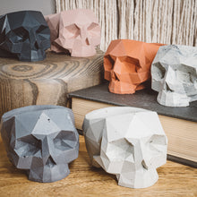 Load image into Gallery viewer, Geometric Skull Vessel - Slate