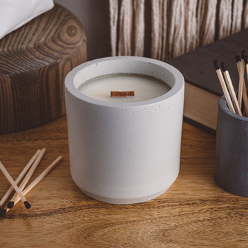 Orange + Amber - Cement Candle