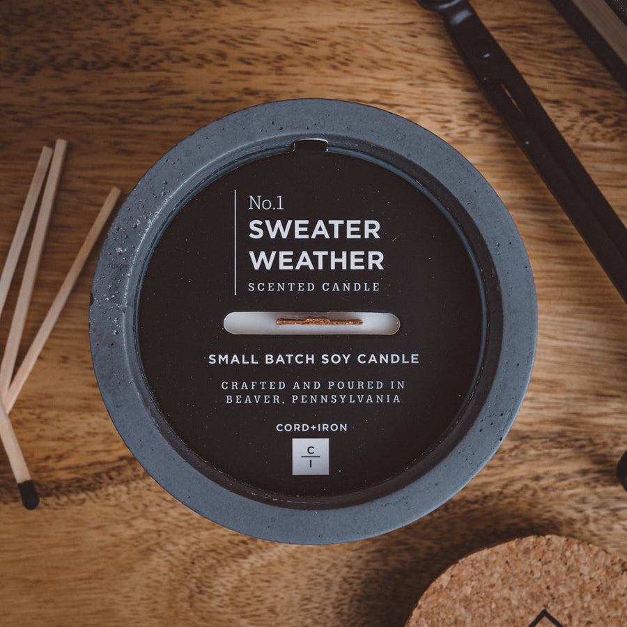 Sweater Weather - Cement Candle