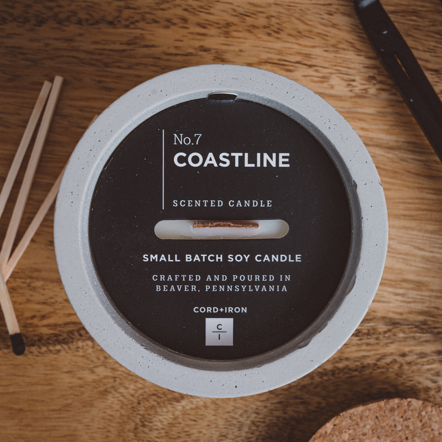 Coastline - Cement Candle