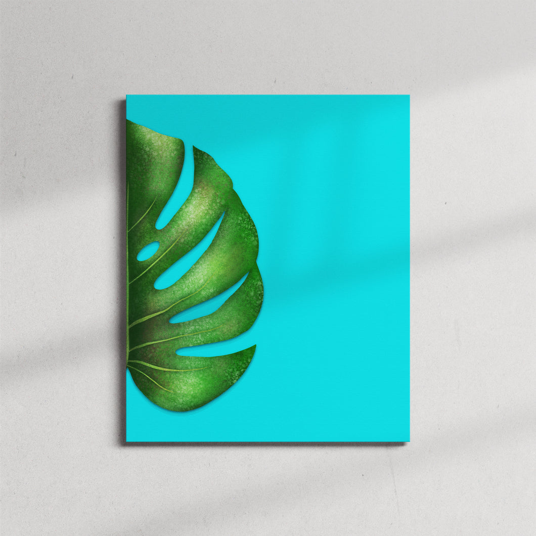 Monstera Half Leaf Right Canvas Print