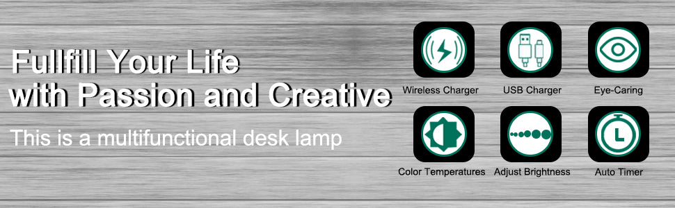 Wireless Charging LED deck lamp