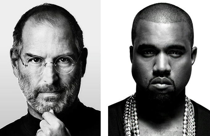 Steve Jobs and Kanye West leading in Fashion
