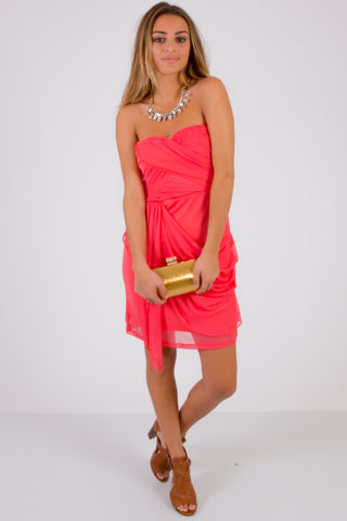 SquareHearts Summer Fashion Coral Party Dress
