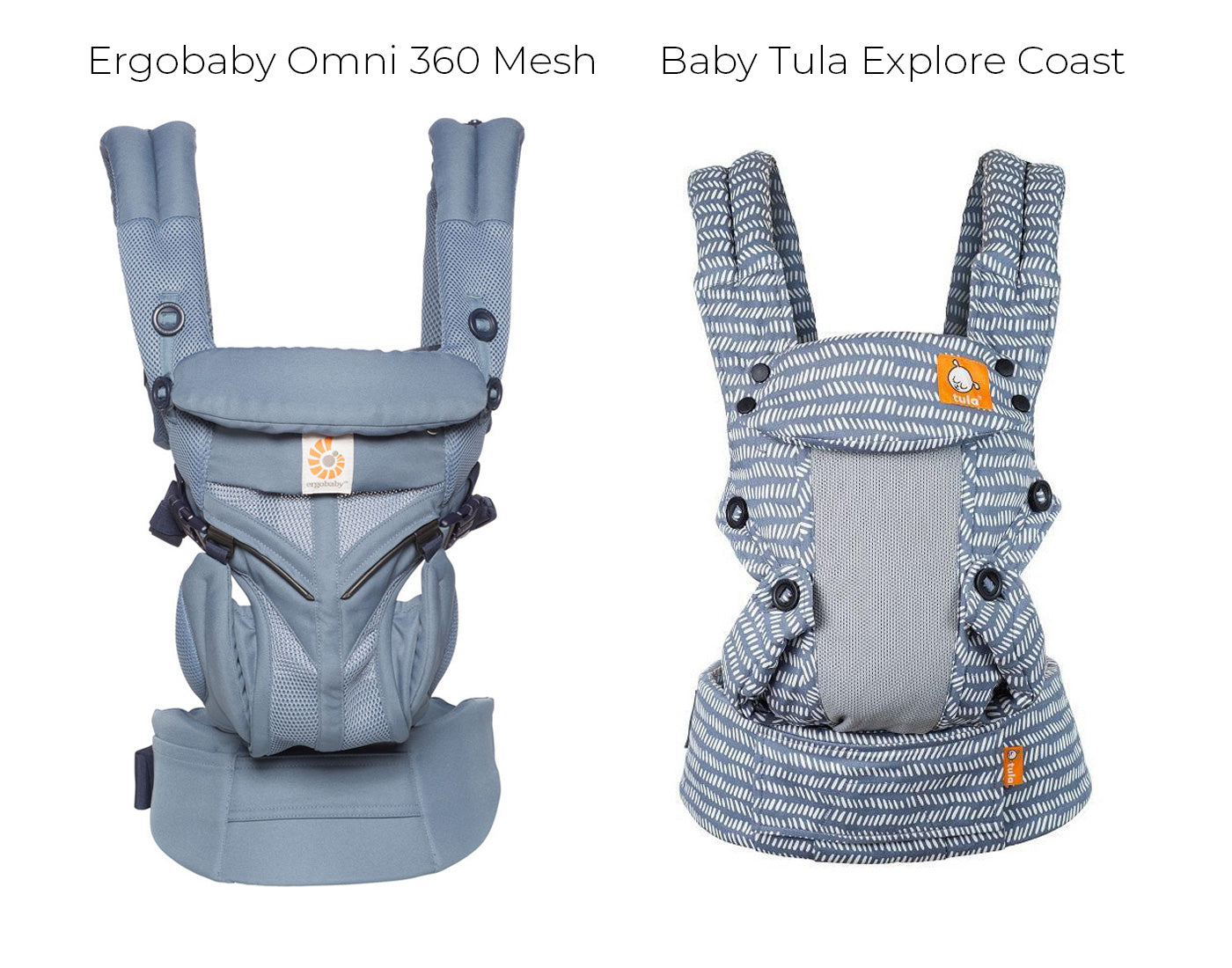Ergobaby Omni 360 Mesh Baby Carrier compared with Baby Tula Explore Baby Carrier