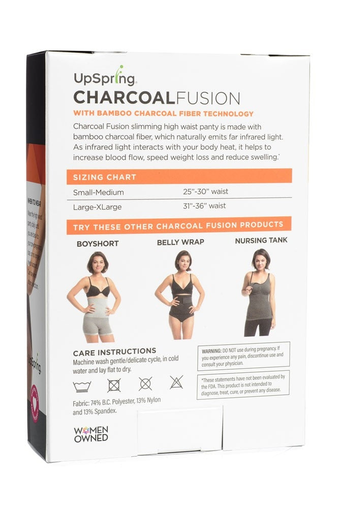 UpSpring Charcoal Fusion Postpartum Belly Slimming High Waist Panty