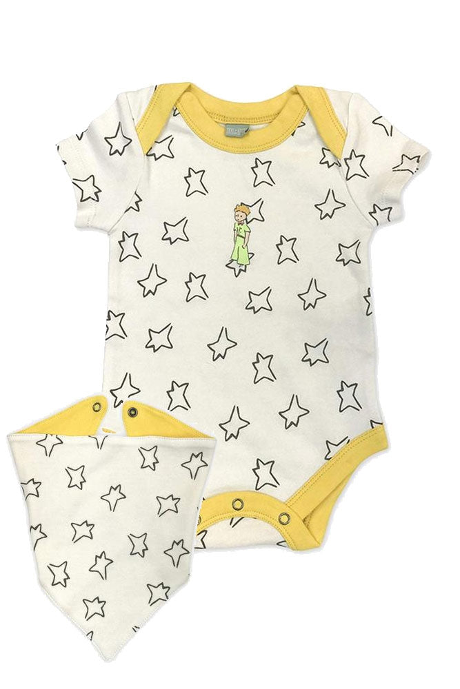 Finn + Emma Little Prince Organic Cotton Body Suit & Bib Set