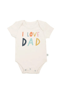 Finn + Emma Organic Cotton Graphic Bodysuit - Love Dad
